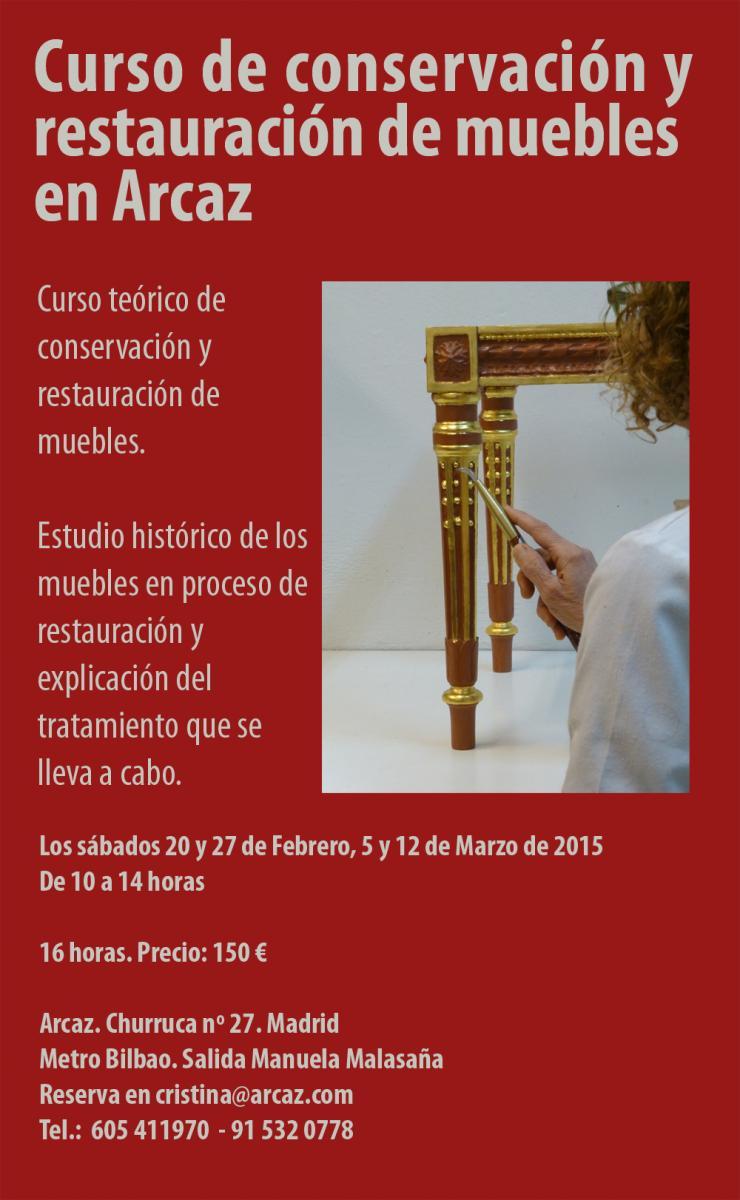 Curso De Conservaci N Y Restauraci N De Mobiliario En Arcaz  ~ Curso De Restauraciã³n De Muebles Madrid